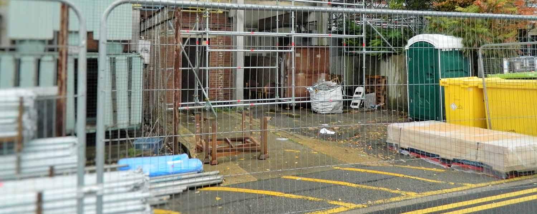 Construction toilet on site