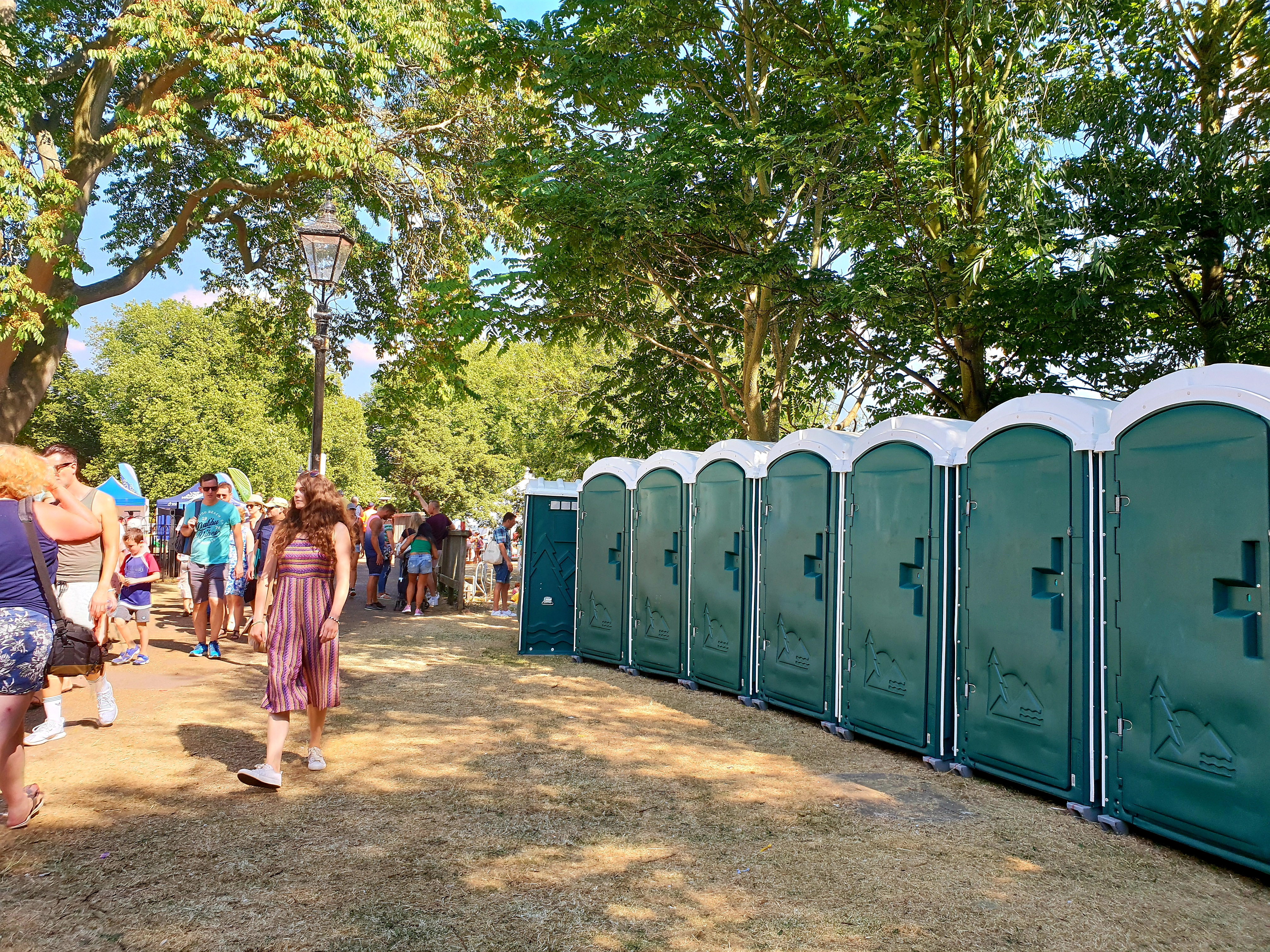 plastic event toilets on hire bedford
